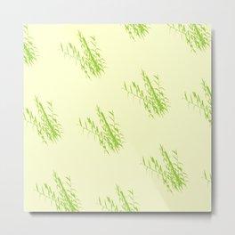 Bush Trees Pattern Metal Print