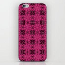 Pink Yarrow Floral Geometric iPhone Skin