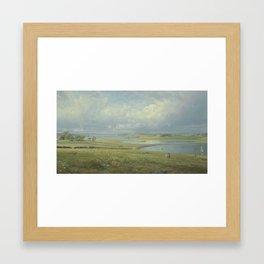 William Trost Richards (1833-1905), Mackerel Cove, Jamestown, Rhode Island,Paintings, oil,Christie's Framed Art Print