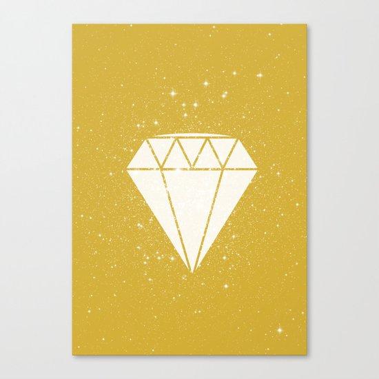 Space Diamond (gold) Canvas Print