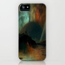 Aurora Borealis by Frederic Edwin Church iPhone Case