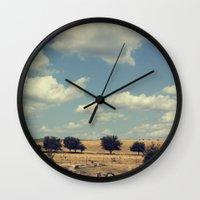 wisconsin Wall Clocks featuring Wisconsin Summer by KunstFabrik_StaticMovement Manu Jobst