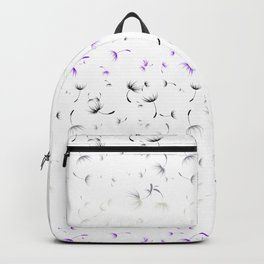 Dandelion Seeds Asexual Pride (white background) Backpack