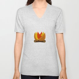 Camping Series: fire Unisex V-Neck