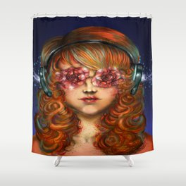 Behind Rose Colored Glasses Shower Curtain