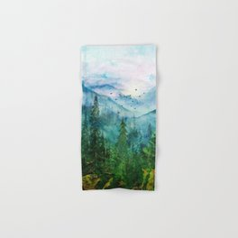 Spring Mountainscape Hand & Bath Towel