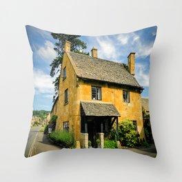 Corner Cottage Throw Pillow