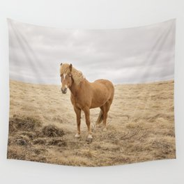 Solitary Horse in Color Wall Tapestry