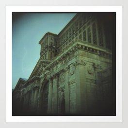 Ruins of Michigan Central Station   Art Print