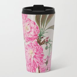 Barrier Mountain Cherry Blossoms Watercolor Travel Mug