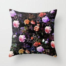 Night Forest III Throw Pillow