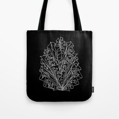 flame line art - black Tote Bag