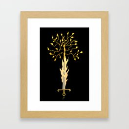 The Flaming Sword Guarding The Garden Framed Art Print