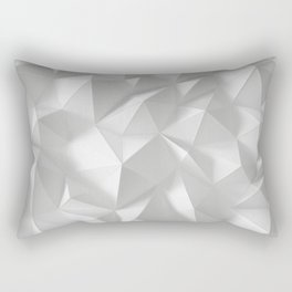 White polygonal landscape Rectangular Pillow