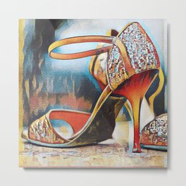 NeoTango Tango Shoes Pop Art Metal Print
