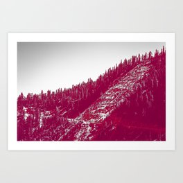 A red velvet myst fogged his eyes but they were evergreen Art Print