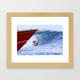 Jordy Smith Billabong Pro Tahiti 2014 Framed Art Print