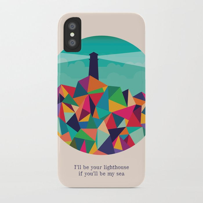 I'll be your lighthouse if you'll be my sea iPhone Case