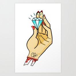 greed tattoo - original Art Print