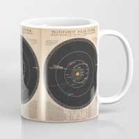 solar system Mugs featuring Solar System by Le petit Archiviste