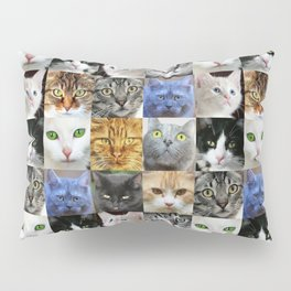 Cat Face Collage Pillow Sham