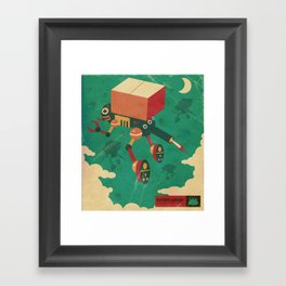 Deliverybot Framed Art Print