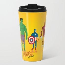 Super Heroes - Pixel Nostalgia Travel Mug
