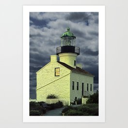 Cabrillo National Monument Lighthouse by San Diego in California Art Print