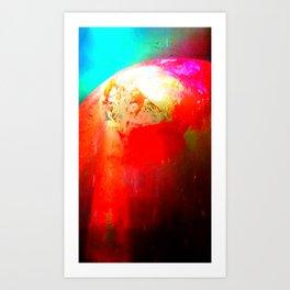 Secret of unknown planet. Art Print