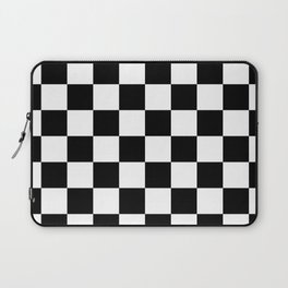 Black & White Checker Checkerboard Checkers Laptop Sleeve