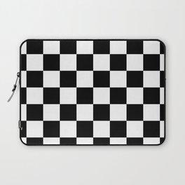Black & White Checker Checkerboard Checkers Laptop Sleeve