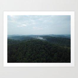 Aerial Photo of Kentucky Mountains Art Print