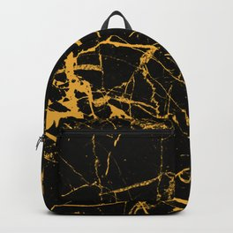 Orange Marble - Abstract, textured, marble pattern Backpack