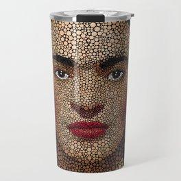 Frida Kahlo dots Travel Mug