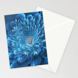 3D Blue Flower Stationery Cards