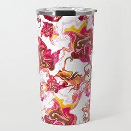 Swirling Movement Artistic Pattern Travel Mug