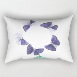 Papilio angelus (circle version) Rectangular Pillow