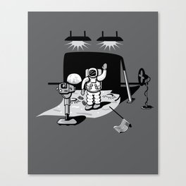 1969: Moonwalk hoax Canvas Print