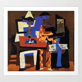 Pablo Picasso Three Musicians Art Print