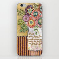 mom iPhone & iPod Skins featuring Mom by Jamie Morath Art