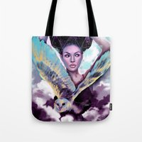 journey Tote Bags featuring Journey by Slaveika Aladjova