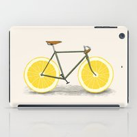 bicycles iPad Cases featuring Zest by Florent Bodart / Speakerine