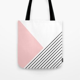 Pink angles and stripes Tote Bag