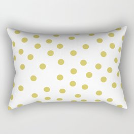 Simply Dots in Mod Yellow on White Rectangular Pillow