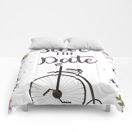 Save the Date Penny Farthing Comforters