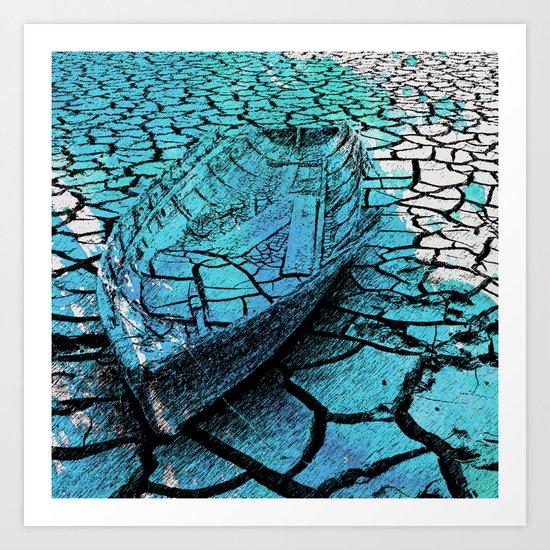 SEA ON DRY GROUND Art Print