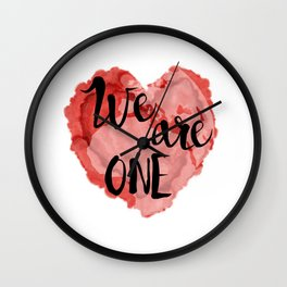 We Are One -Global Community Wall Clock