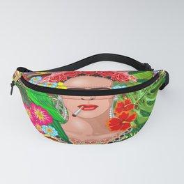 Frida Kahlo Floral Exotic Portrait Fanny Pack