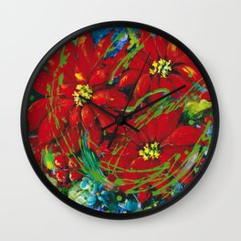 Christmas Beauty Wall Clock