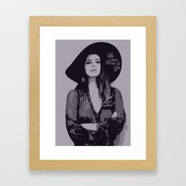 Lana Del Ray  Framed Art Print